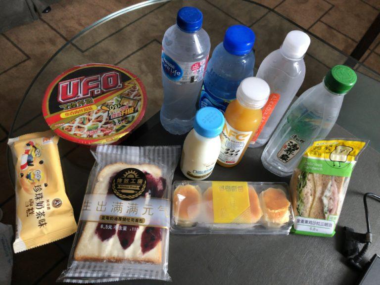 飲み物と間食